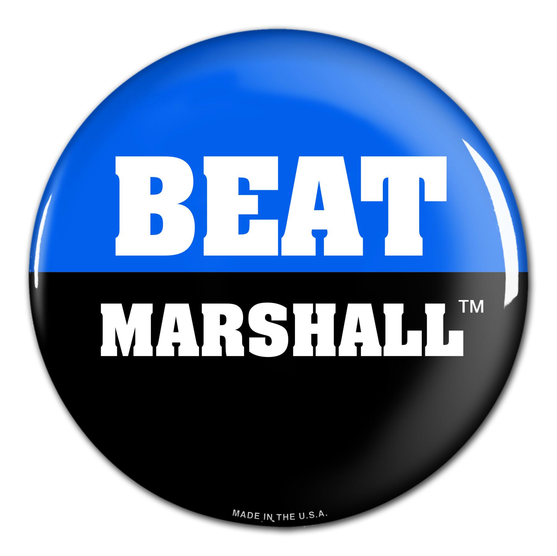 "Beat MARSHALL 3"" Button"