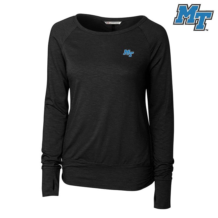 MT Logo Women's Slub Knit Long Sleeve Shirt