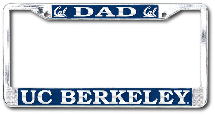 University of California Berkeley Dad Polished Chrome License Plate Frame