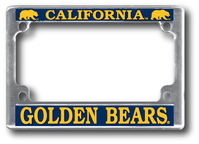 University of California Berkeley Motorcycle License Plate Frame