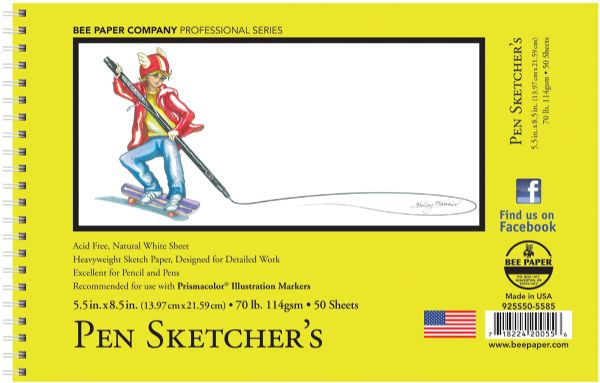 Bee Paper Pen Sketchers Pad 8.5 x 5.5