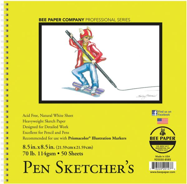 Bee Paper Pen Sketchers Pad 8.5 x 8.5