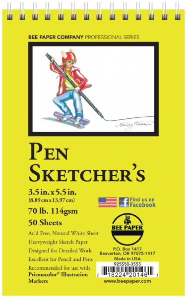Bee Paper Pen Sketchers Pad 3.5 x 5.5