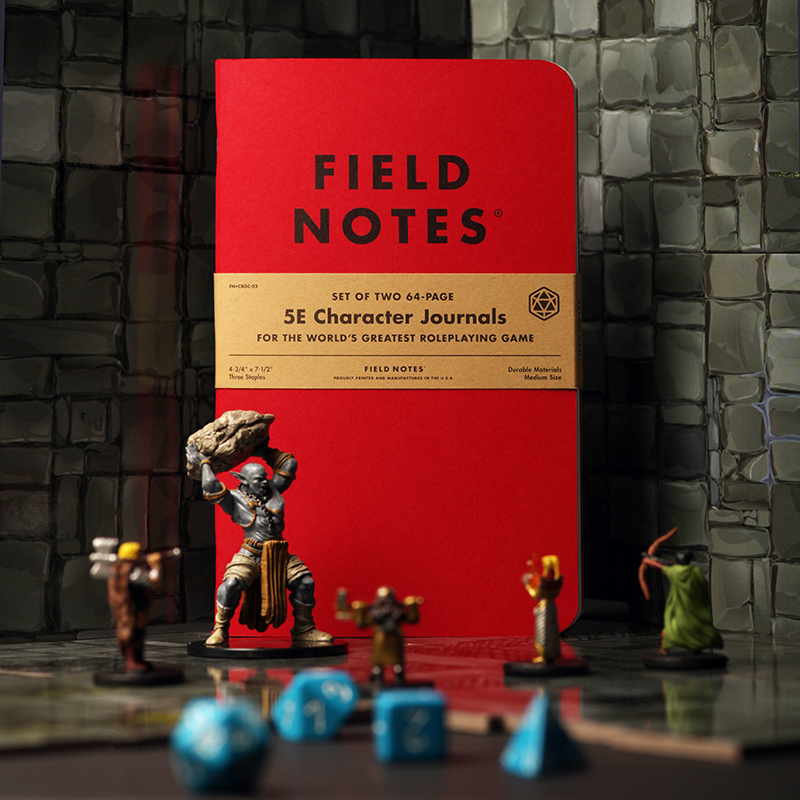 Field Notes 5e Character Journals for Tabletop RPGs