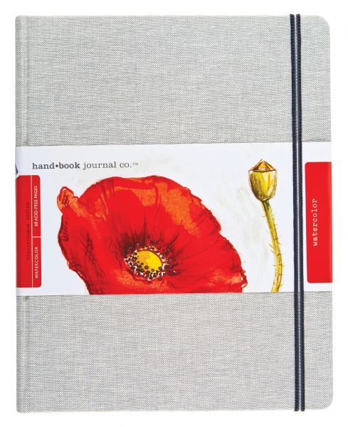 Hand Book Watercolor Linen Grand Portrait Journal 8.25 x 10.5