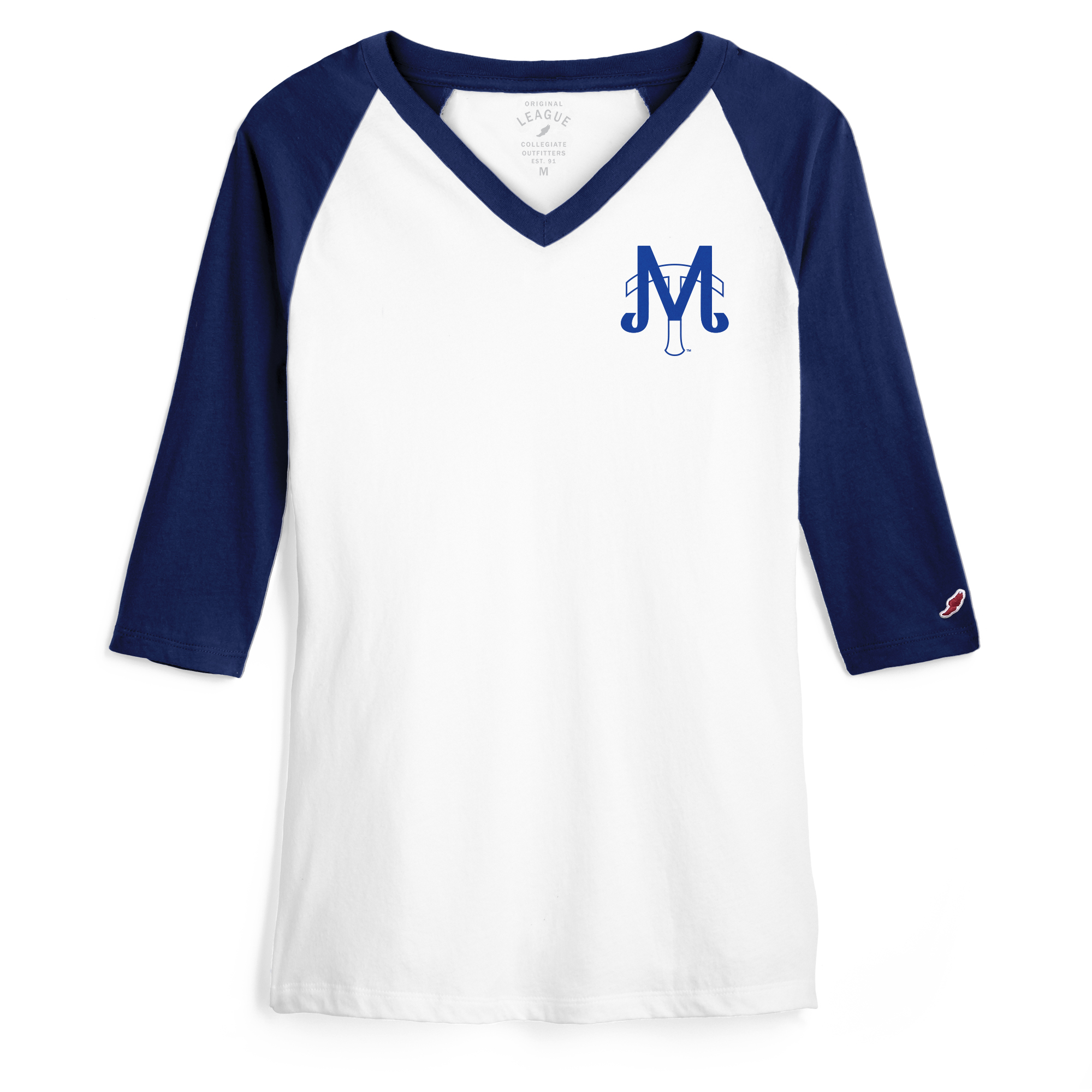 MT Baseball Women's Camp Vneck 3/4 Sleeve Shirt
