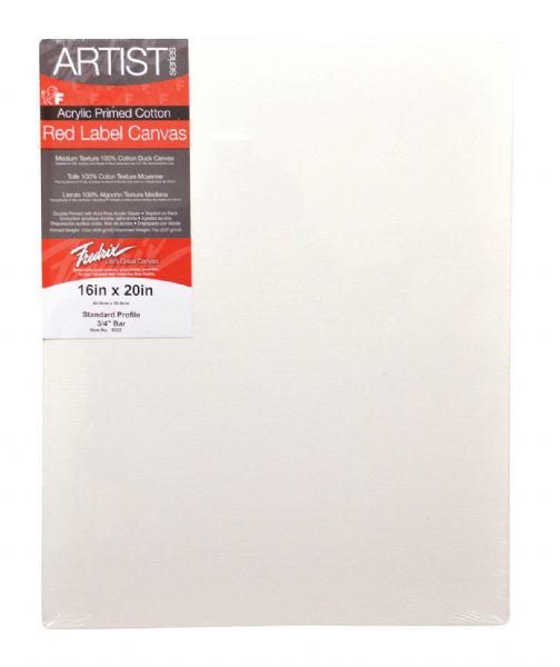 Fredrix Artist Red Label Stretched Canvas .75 in