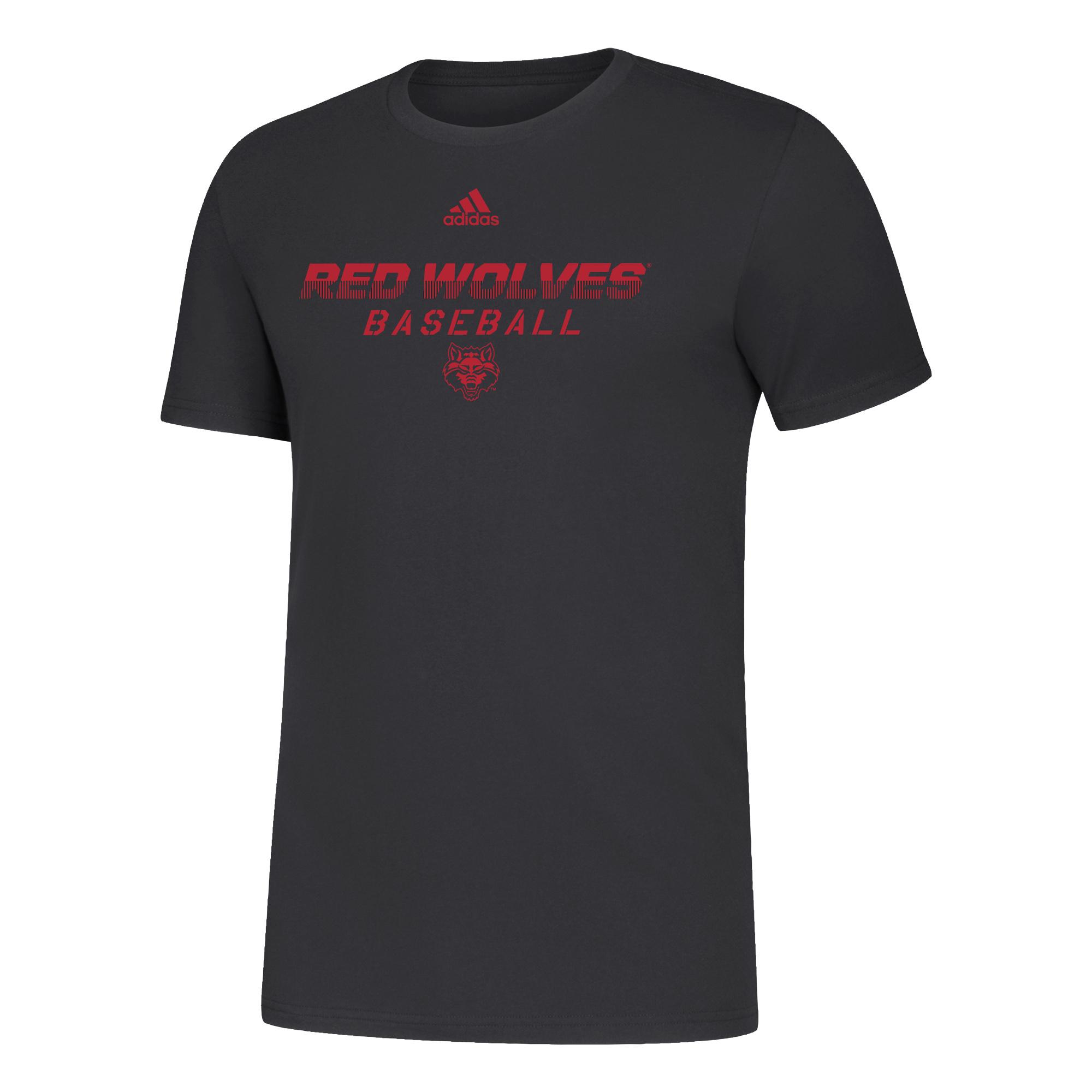 Red Wolves Baseball Amplifier SS Tee