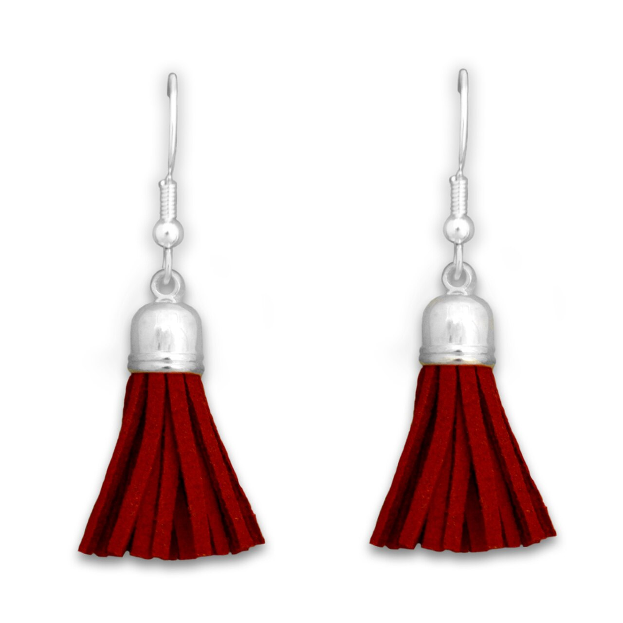 Tassel Earrings Bright Red