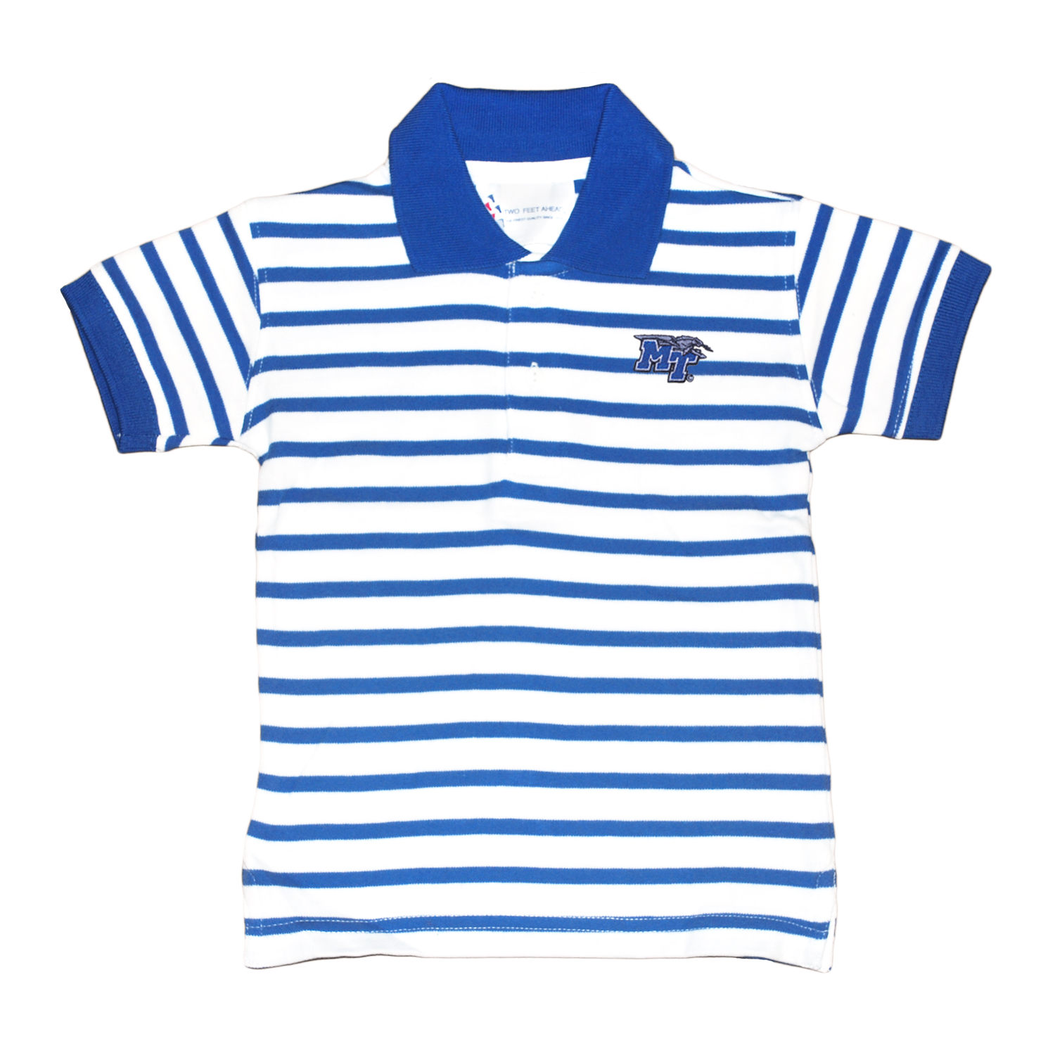 MT Logo Striped Toddler Golf Polo