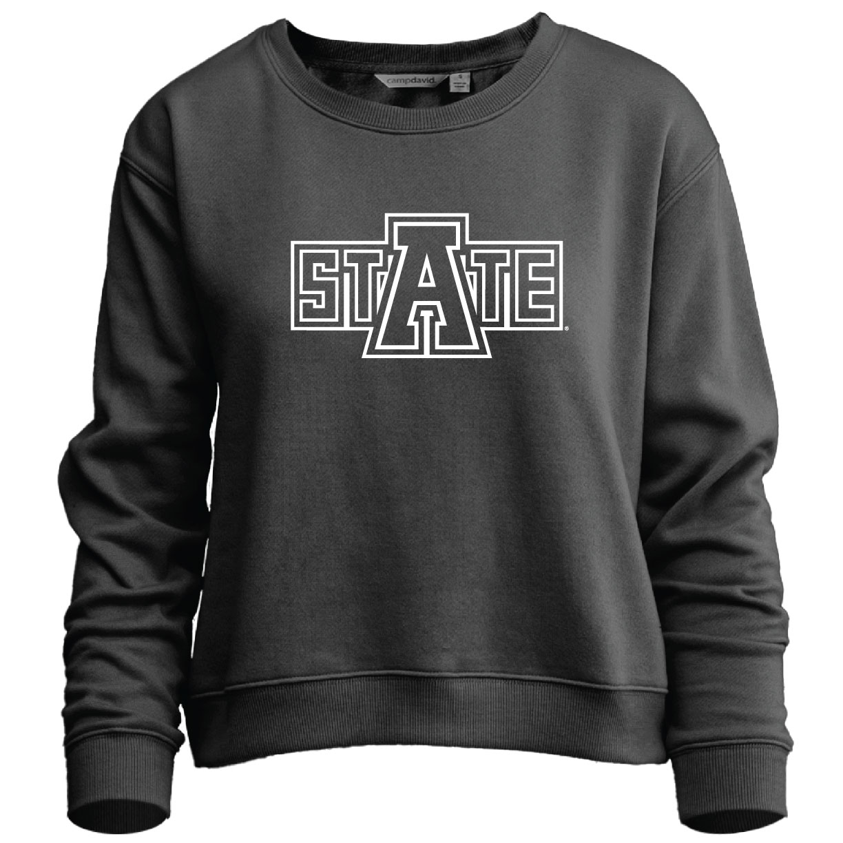 Arkansas State Shimmy Cropped Crew