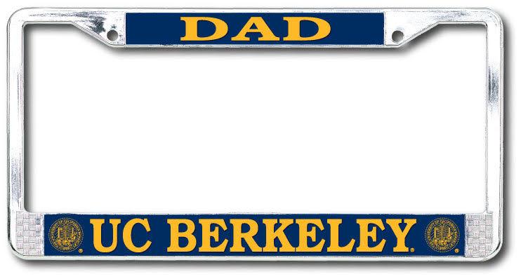 University of California Berkeley Dad UC Berkeley 2 Hole Chrome License Plate