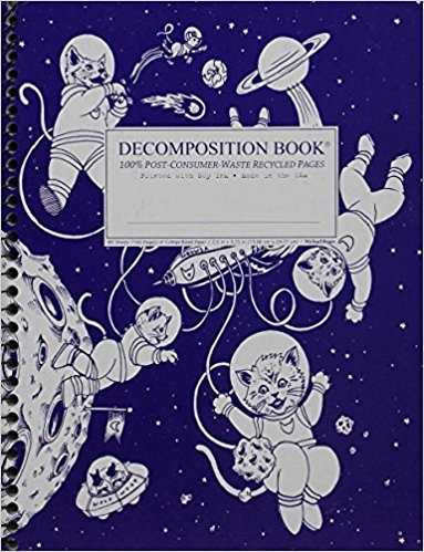 Cal Bears Coilbound Decomposition Book 'Kittens in Space'