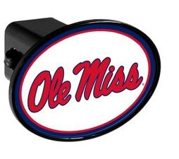 White Oval Hitch Cover 2in