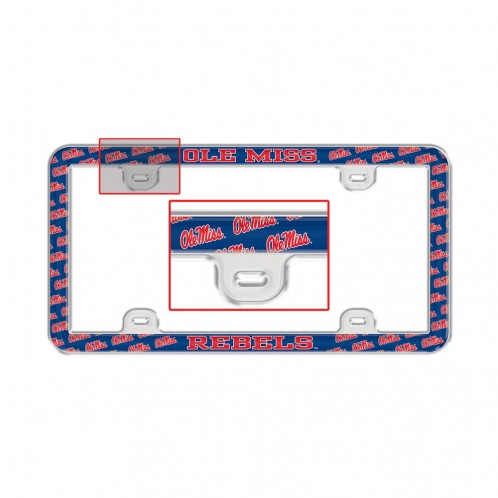 Plastic License Plate Frame Thin Print