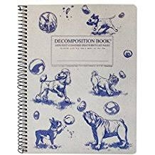 Cal Bears Coilbound Decomposition Book 'Dogs and Bubbles'
