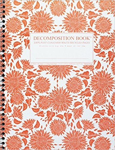 Cal Bears Coilbound Decomposition Book 'Sunflowers'