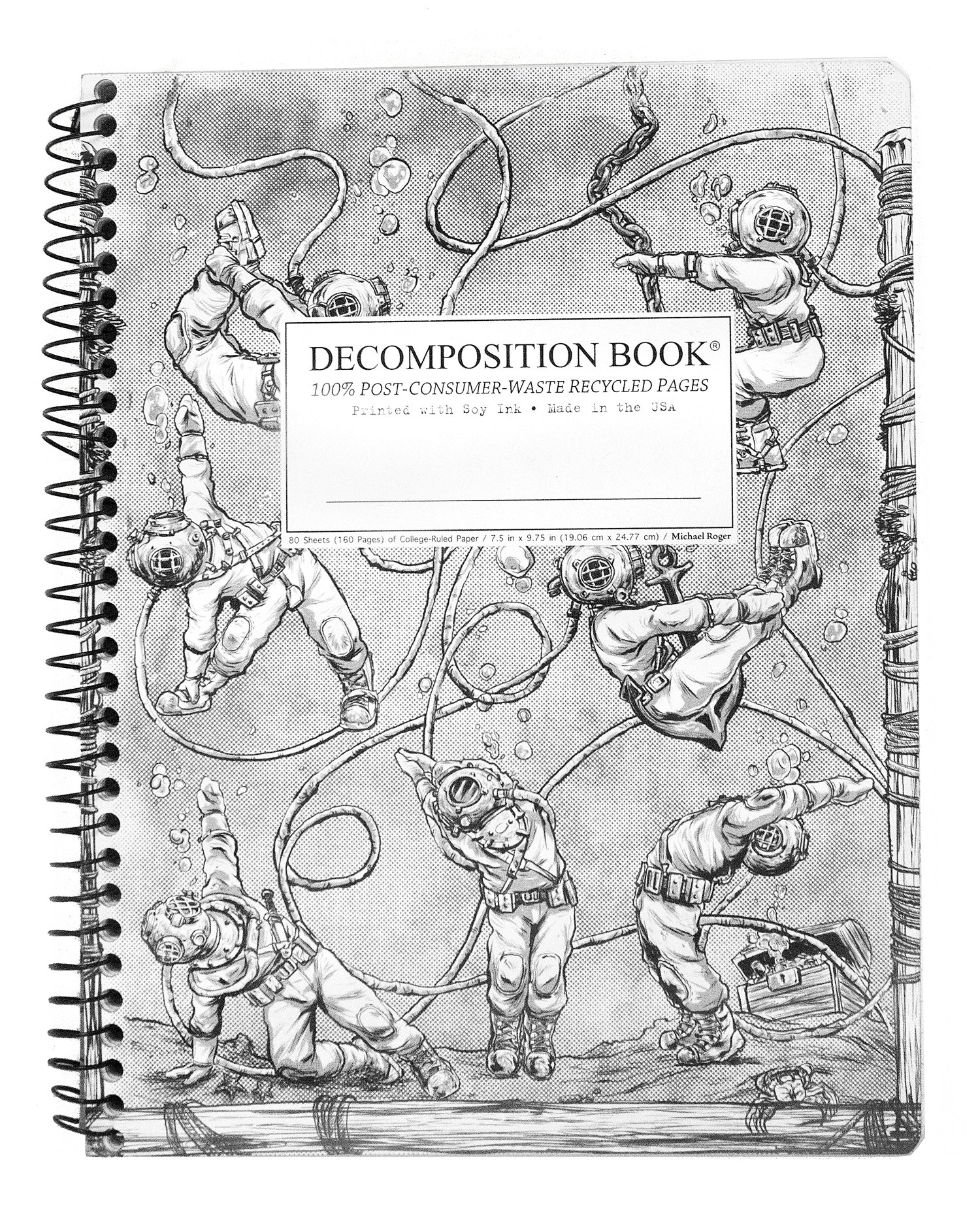 Cal Bears Coilbound Decomposition Book 'Deep Stretch'