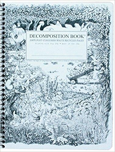 Cal Bears Coilbound Decomposition Book 'Gardening Gnomes'