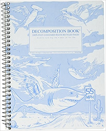 Cal Bears Coilbound Decomposition Book 'Flying Sharks'