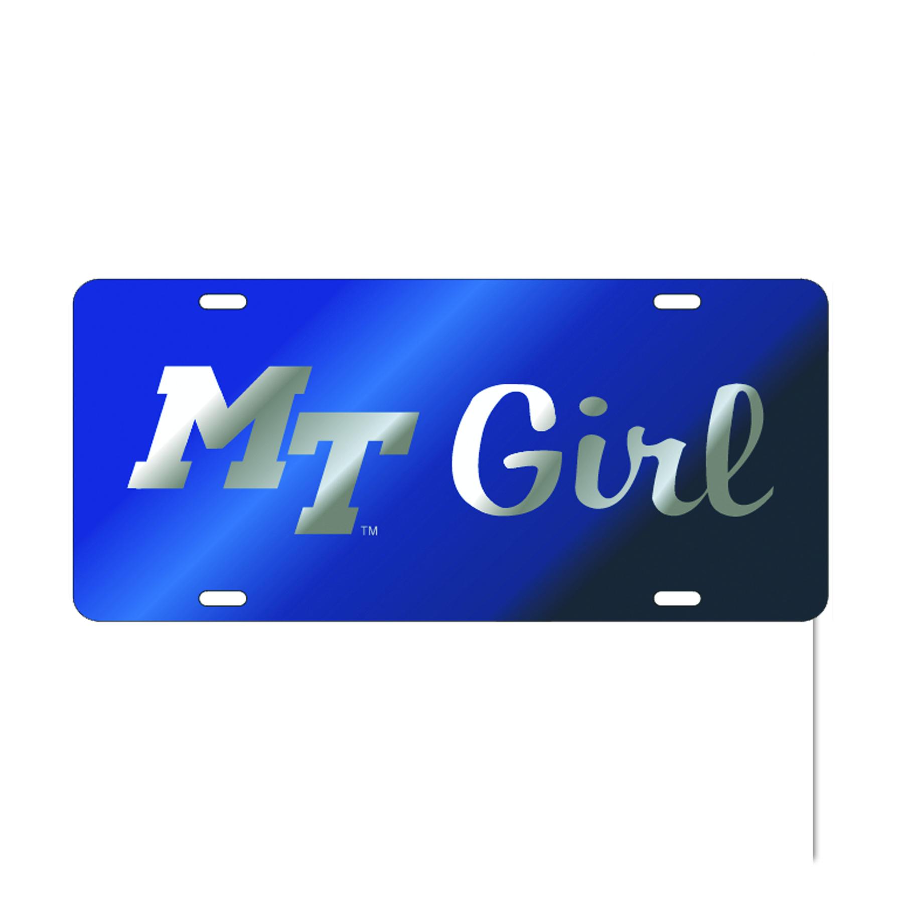 MT Girl License Plate