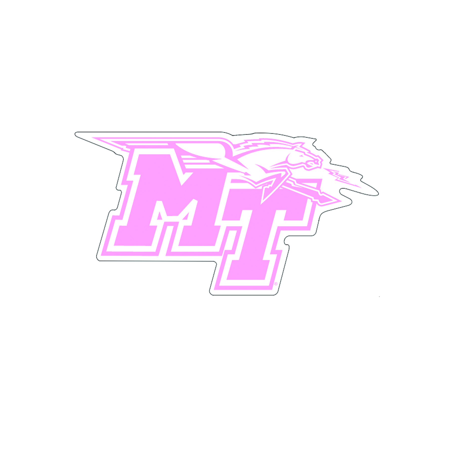 MT Logo Pink Decal
