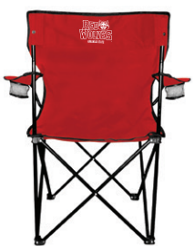 Red Wolves Folding Chair w/ Carrying Bag
