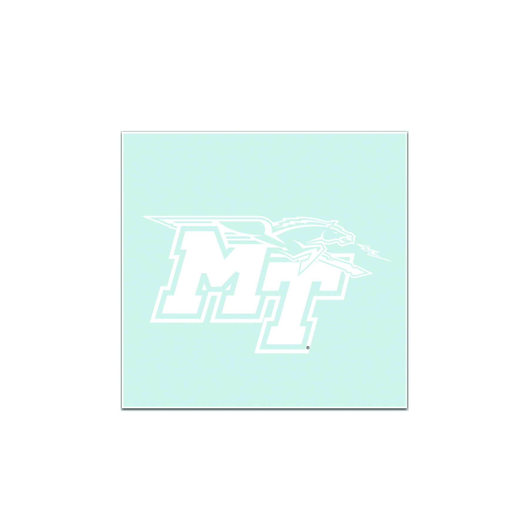 MT Logo White Decal