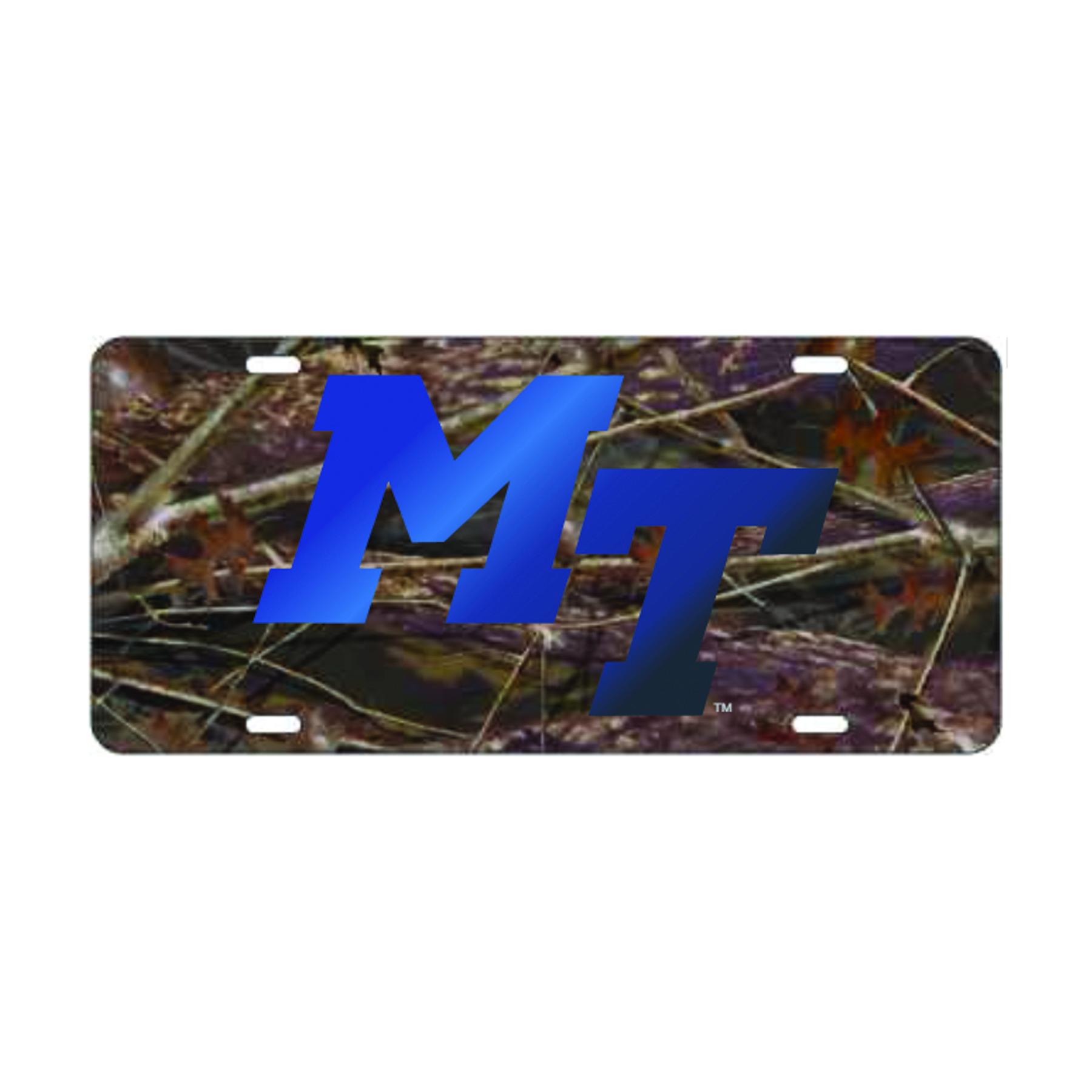 MT Logo Camo License Plate