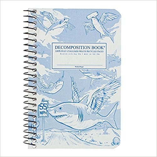 Cal Bears Pocket 4x6 Coil Decomposition Book 'Flying Sharks'