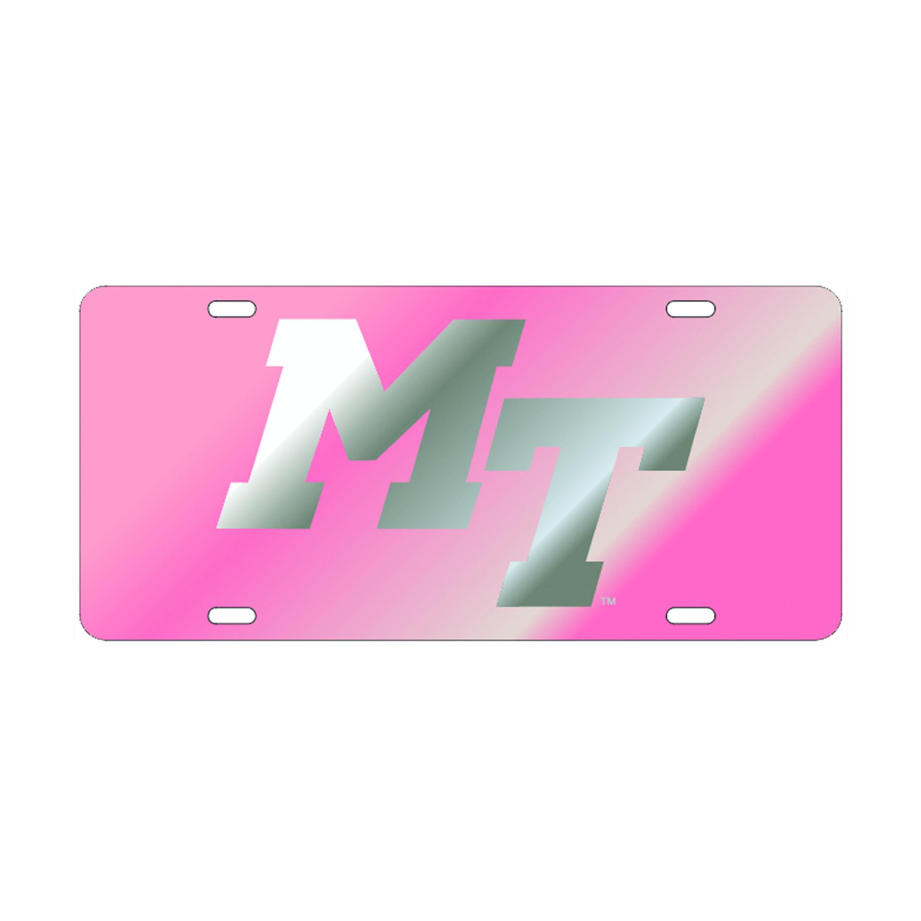 MT Logo Pink License Plate