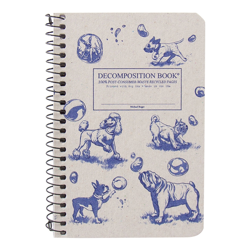 Cal Bears Pocket 4x6 Coil Decomposition Book 'Dogs and Bubbles'