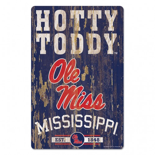 Wincraft Hotty Toddy Wood Sign
