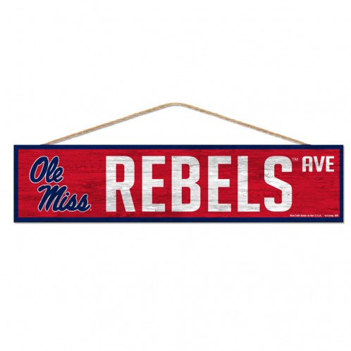 Wincraft Rebels Wooden Street Sign