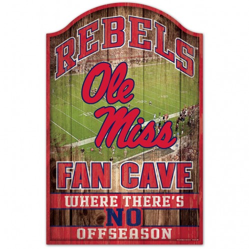 Fan Cave Wood Sign 11x17