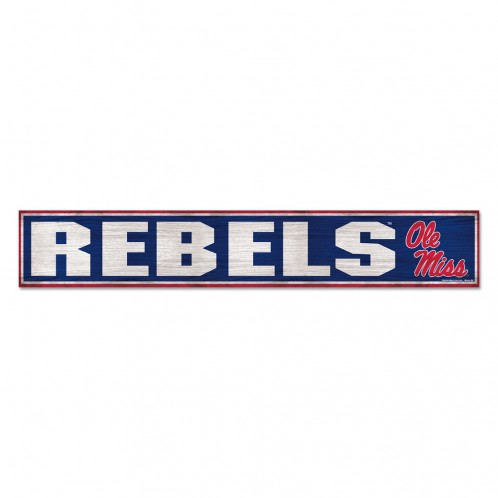 WinCraft Rebels Wood Sign 6in x 36in