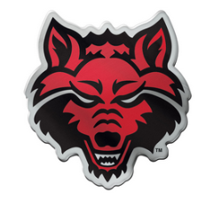 Arkansas State Red Wolves Acrylic Auto Emblem