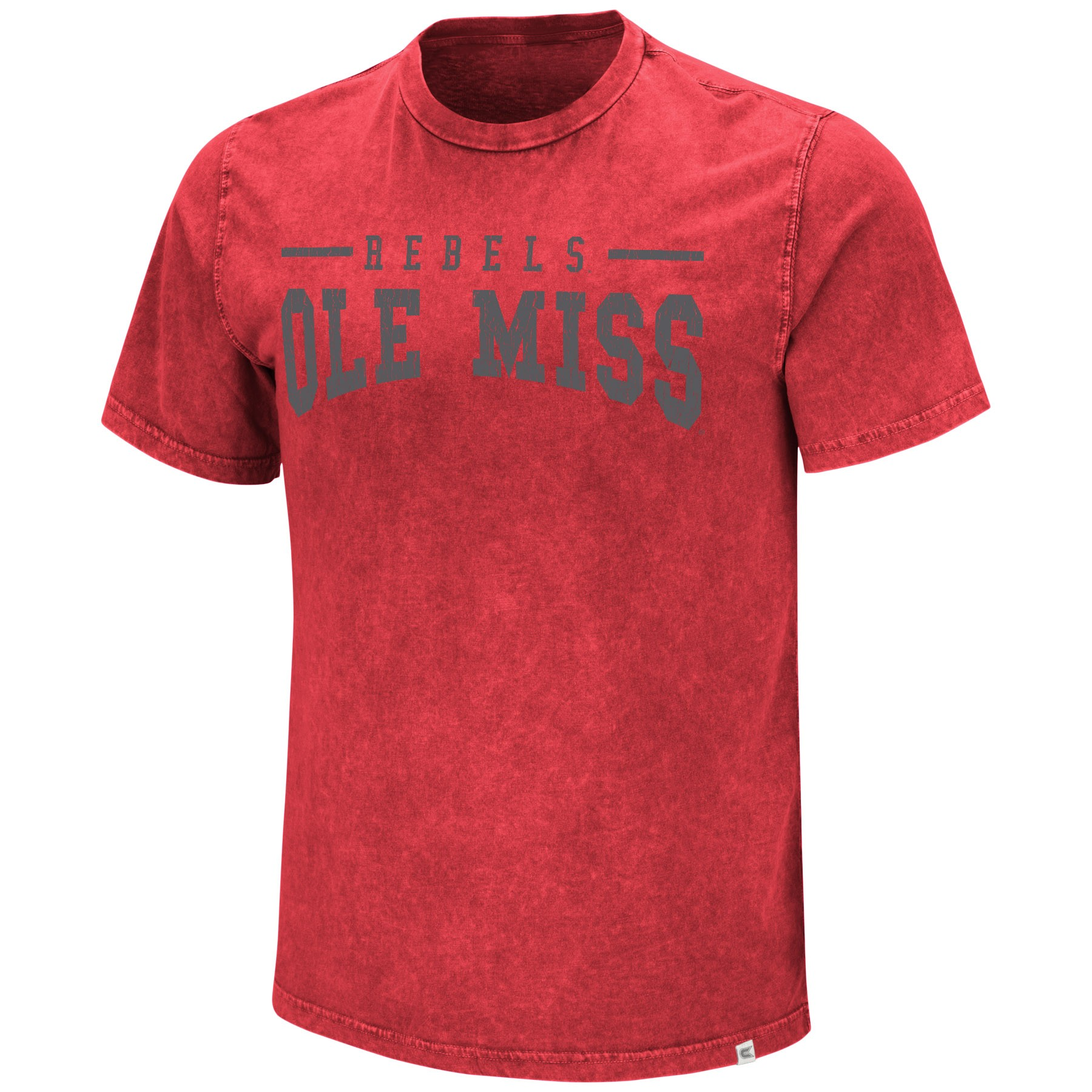 Colosseum Mens Distressed Gray Ink Tee