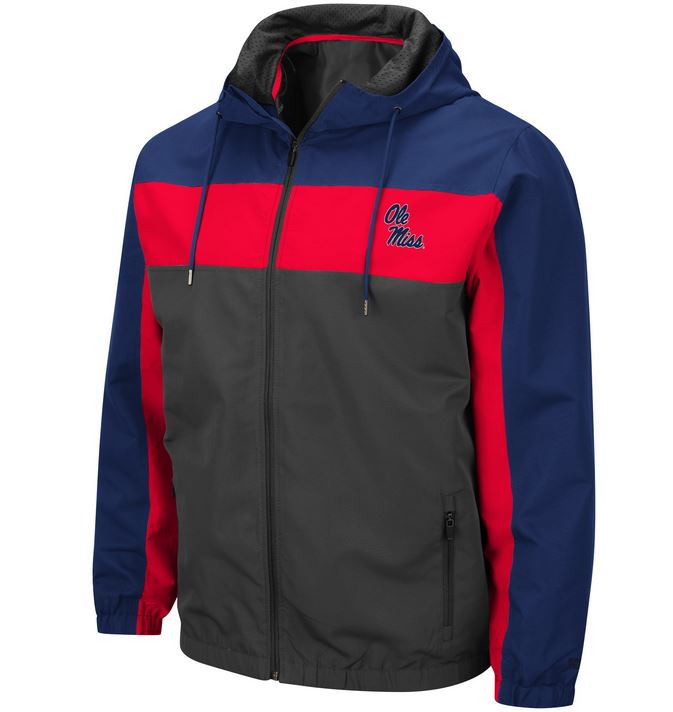 Colosseum Red and Navy Brockman Rain Jacket