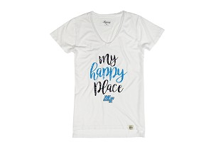 My Happy Place MT Women's Distressed V-neck