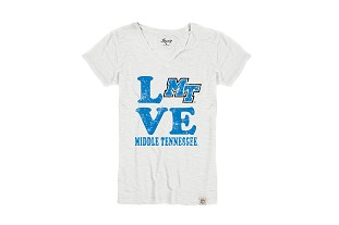LOVE Middle Tennessee Women's Pigment Dyed Slub V-Neck