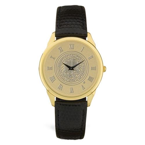 M Wristwatch Black Leather Strap Berkeley Seal