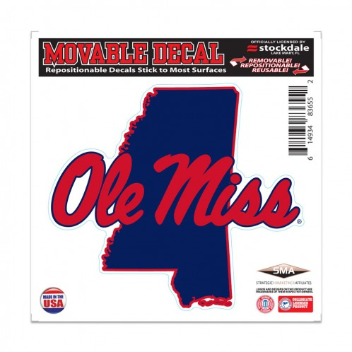 State Shape Movable Decal 6x6