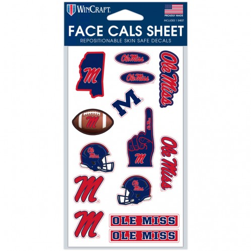 Face Cals Decal Sheet 4x7