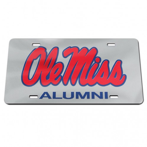 Acrylic Ole Miss Alumni Mirror Tag
