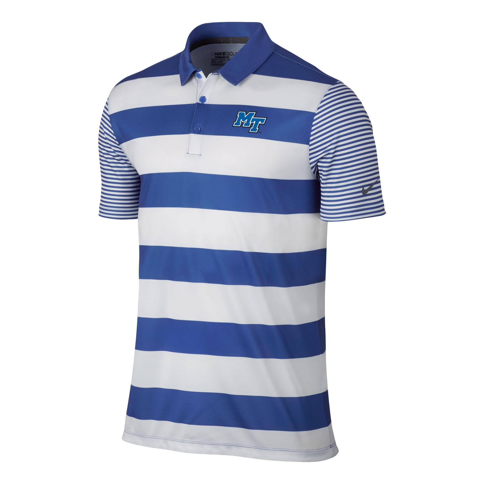 MT Logo Breathe Bold Stripe Nike® Golf Polo