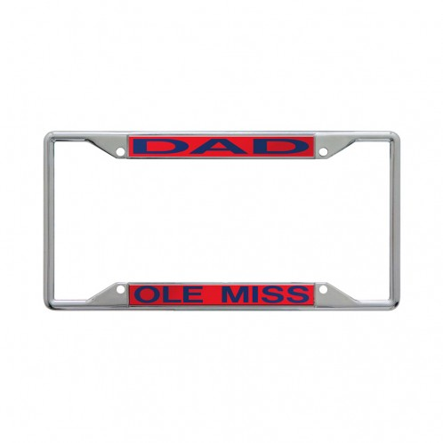 Red Acrylic/Metal Dad Tag Frame