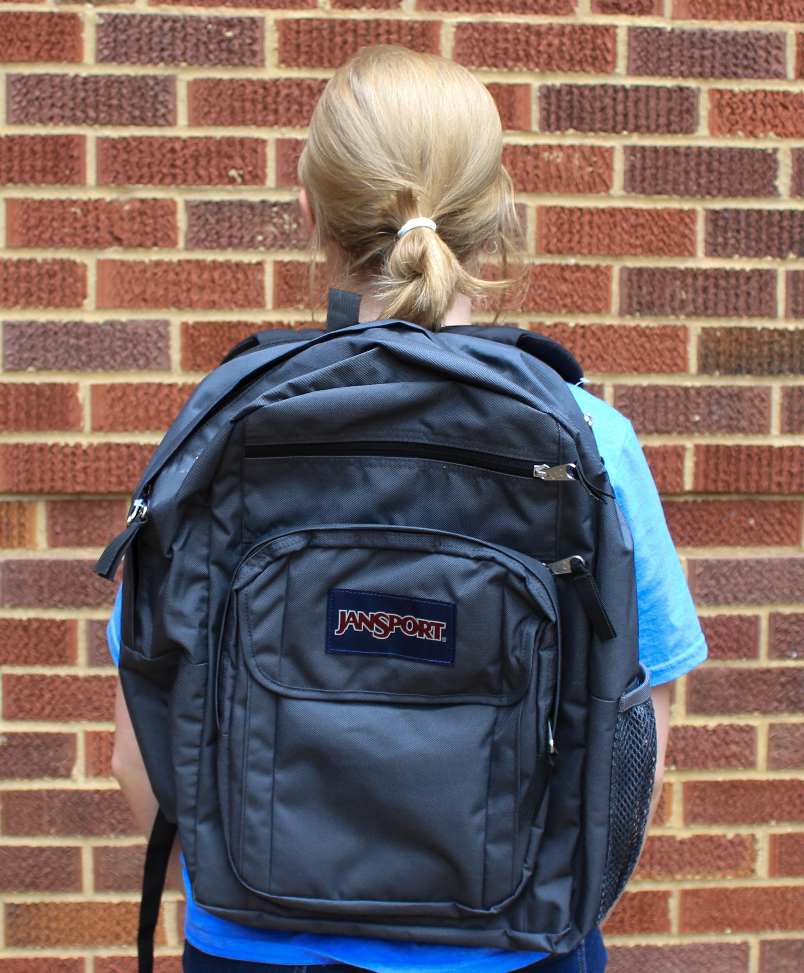Black Digitial Student Backpack