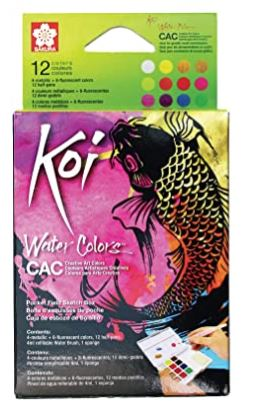 Koi Watercolors Fluorescent/Metallic Set 12 Pan