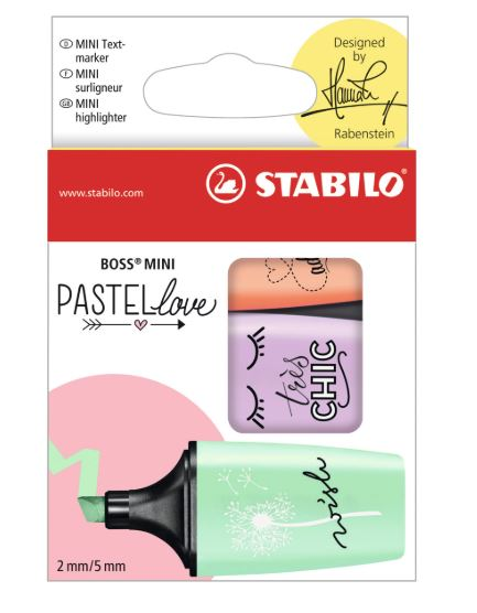 Boss Mini Pastel Love Highlighter Sets